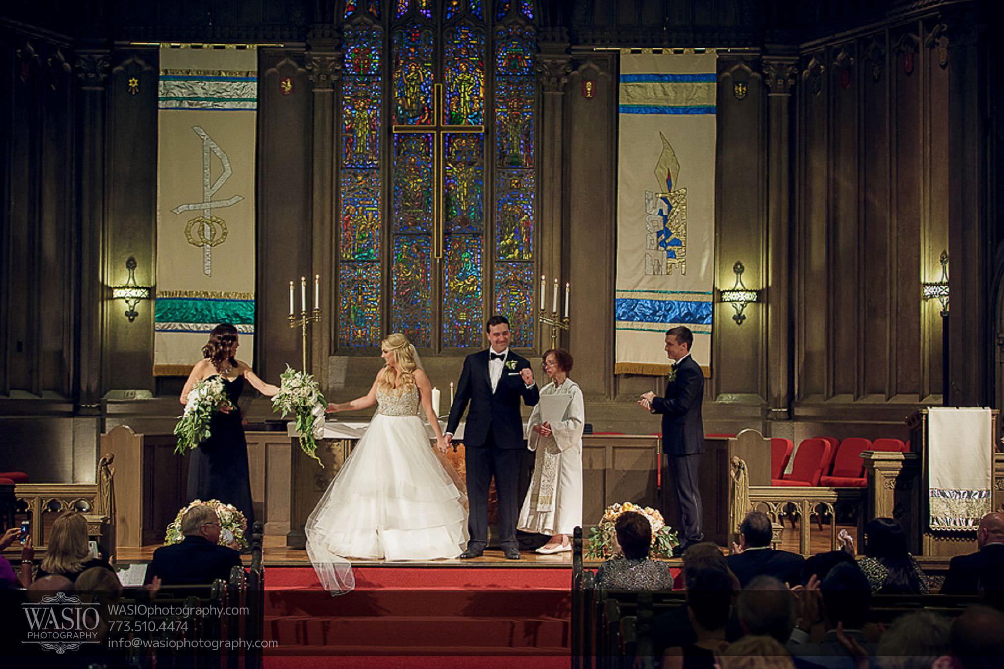 venue-one-chicago-wedding-happy-bride-groom-First-Methodist-Church-59 Venue One Chicago Wedding - Katie + Mike