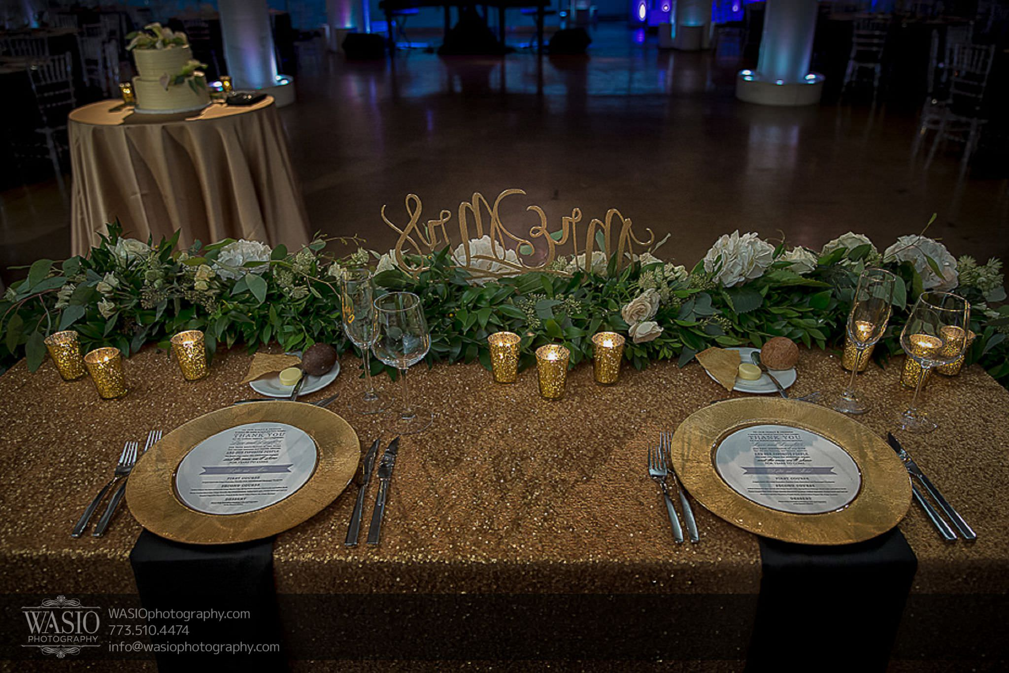 venue-one-chicago-wedding-sequence-head-table-gold-detail-68 Venue One Chicago Wedding - Katie + Mike