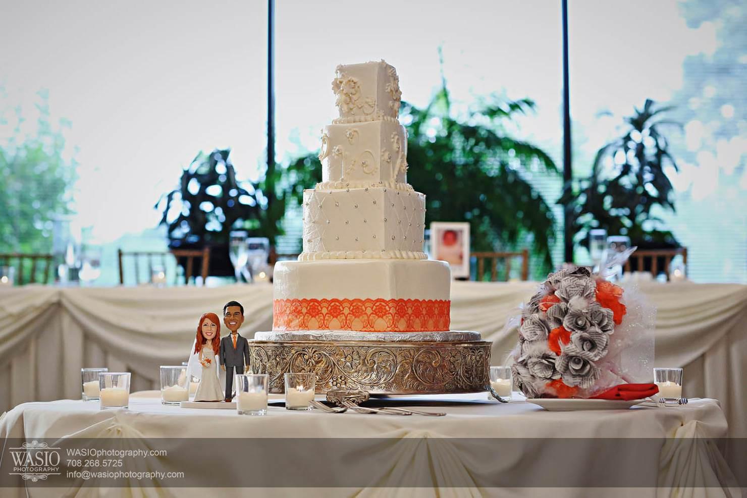 wedding-cake-orange Chevy Chase Country Club Wedding - Elizabeth & Michael