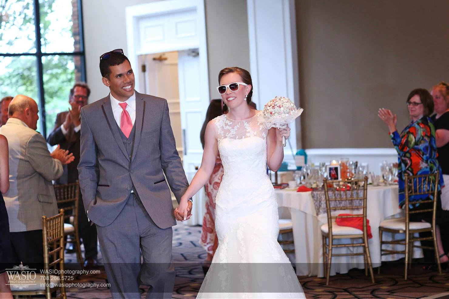 wedding-entry-fun-glasses Chevy Chase Country Club Wedding - Elizabeth & Michael