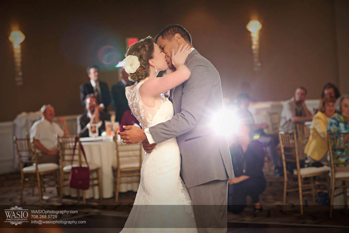 wedding-first-dance-kiss-romantic Chevy Chase Country Club Wedding - Elizabeth & Michael
