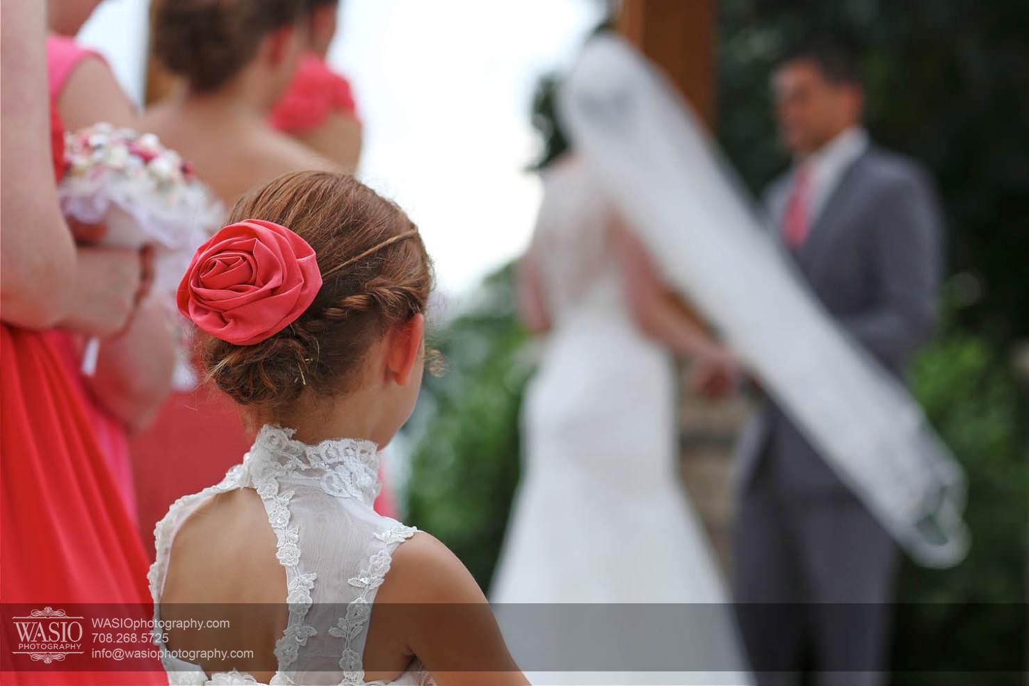 wedding-flower-girls-veil Chevy Chase Country Club Wedding - Elizabeth & Michael