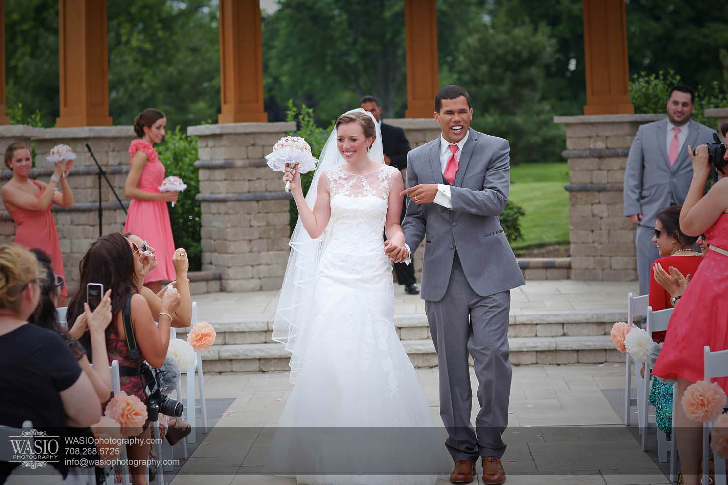 wedding-outdoor-ceremone-first-walk Chevy Chase Country Club Wedding - Elizabeth & Michael