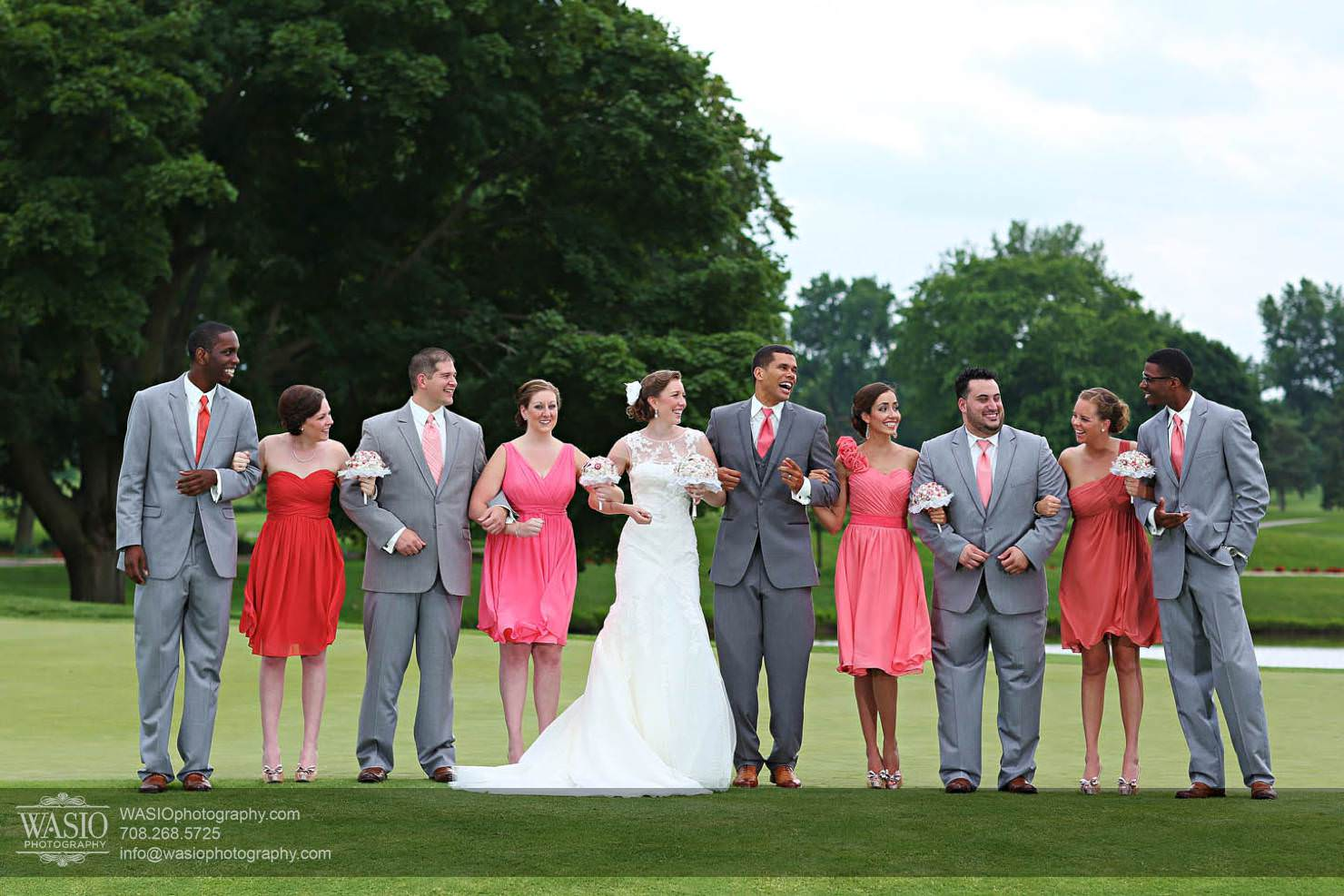 wedding-party-lought-portrait Chevy Chase Country Club Wedding - Elizabeth & Michael